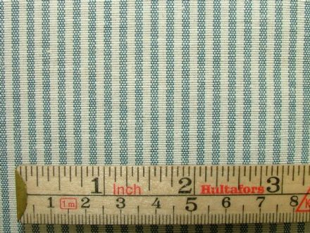 Prestigious Textiles Pale Blue Ticking Curtain / Soft Furnishing Fabric